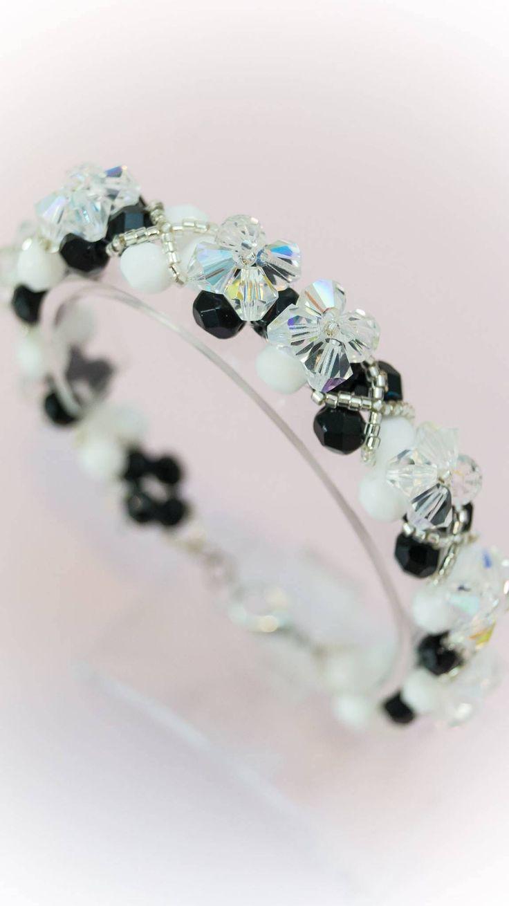 Excited to share the latest addition to my #etsy shop: Bracelet 4 http://etsy.me/2CRZ5e0 #jewelry #bracelet #black #white #no #women #womanbracelet #handmadebracelet #fashionbracelet