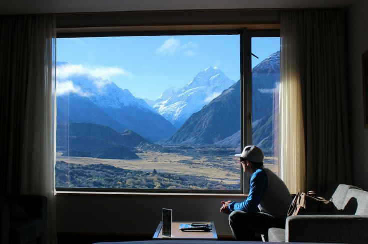 View from The Hermitage Hotel in Mount Cook Village. #ultimatequeenstown side trip!