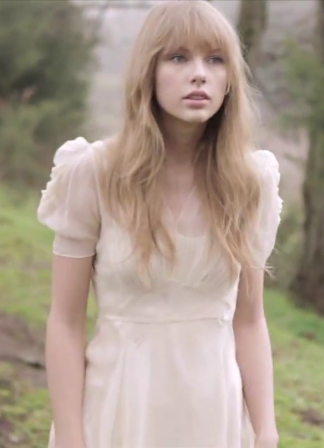 Taylor swift dress worn in 'Safe and Sound' - the original dress is a 1920's gown - empire gown with point