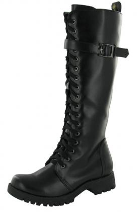 Volatile Combat Womens Boot Knee High Buckle Shoes | Top Clothing And Shoes From Affliction, Betsey Johnson, Lacoste, Bearpaw, True Religion, Ed Hardy and more