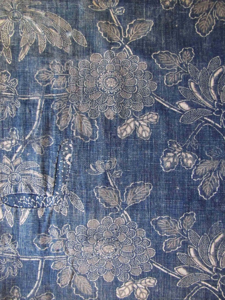 antique indigo fabrics