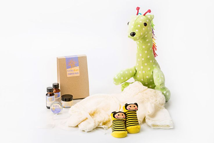 Baby Bundle Hamper - give the perfect 'welcome to the world' gift with this adorable hamper full of baby goodies.  They'll be the best accessorised, smoothest skinned baby around with a stunning stuffed toy that they will love for many years to come.