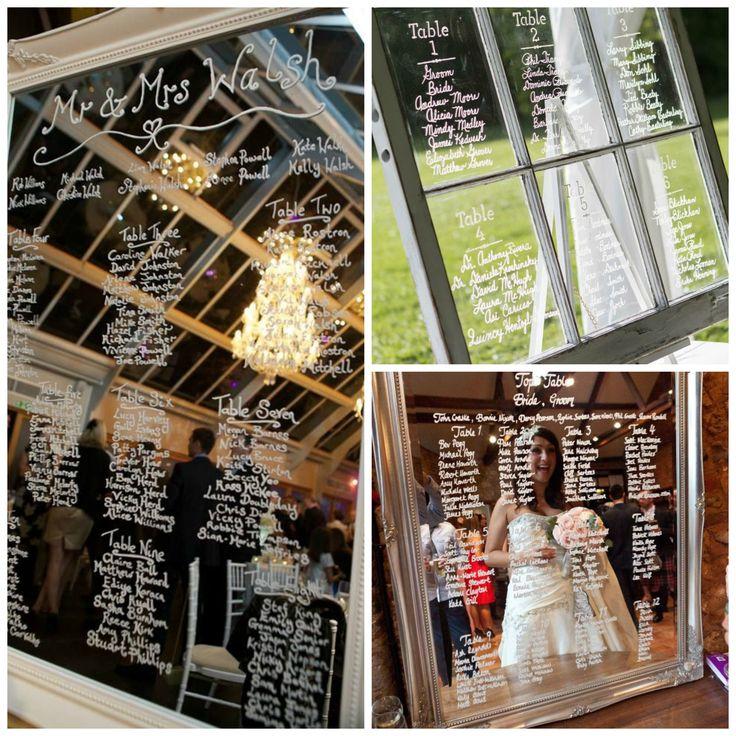 Plan de table mariage en verre