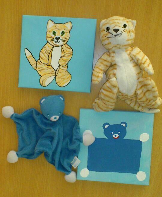 DIY Make painting of child's favourite stuffed animal