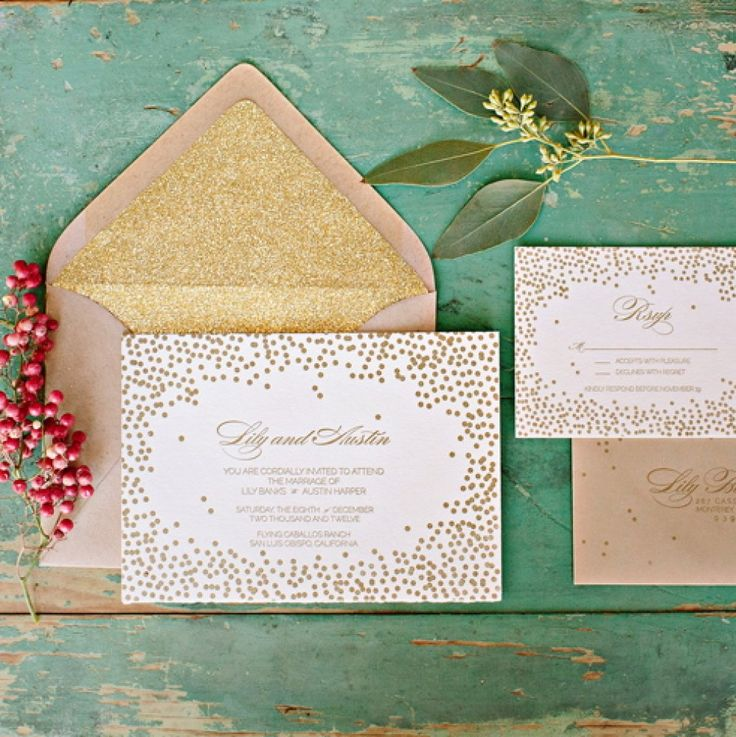 how to address wedding invitations inside envelope%0A White and Gold Wedding  California Winter Glitter Photo Shoot from Mirelle  Carmichael