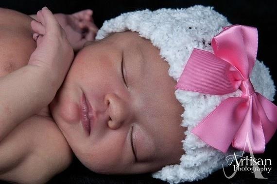 Sleeping babiesWhite Newborns, Wait Till, Softest White, Newborns Beanie, Bows, Kids, Beanie Hats, Sleep Baby, Baby Mania