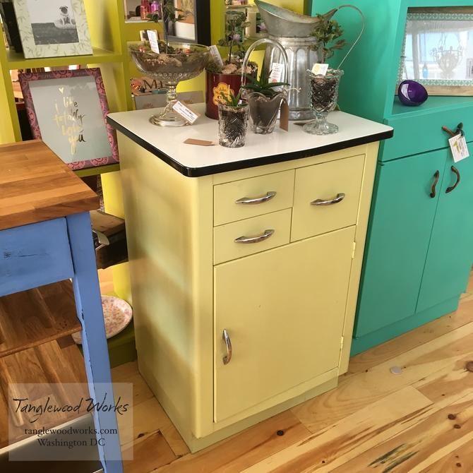 Vintage Metal Storage Cabinet From Tanglewood Works Of Hyattsville Md Attic Metal Storage Cabinets Metal Kitchen Cabinets Modern Kitchen Furniture