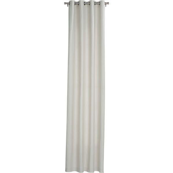 "basketweave natural curtain panel 48""x84""  | CB2"