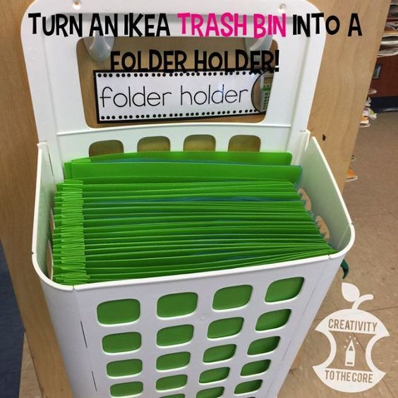 Great organization tip with an inexpensive IKEA product!