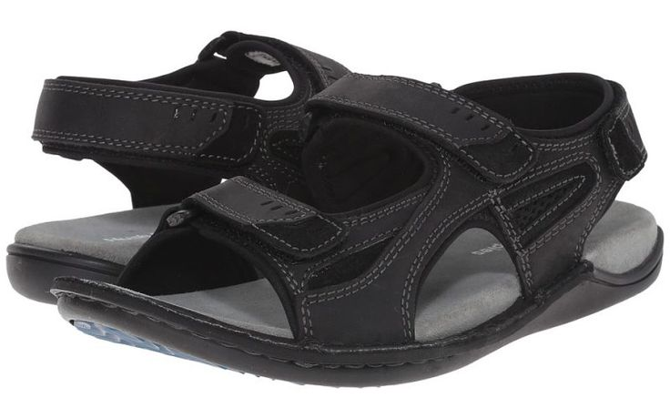 Hush Puppies Rawson Grady (Black Waxy Leather) Men's Sandals - Hush Puppies, Rawson Grady, HM01371-001-001, Footwear Open Casual Sandal, Casual Sandal, Open Footwear, Footwear, Shoes, Gift - Outfit Ideas And Street Style 2017