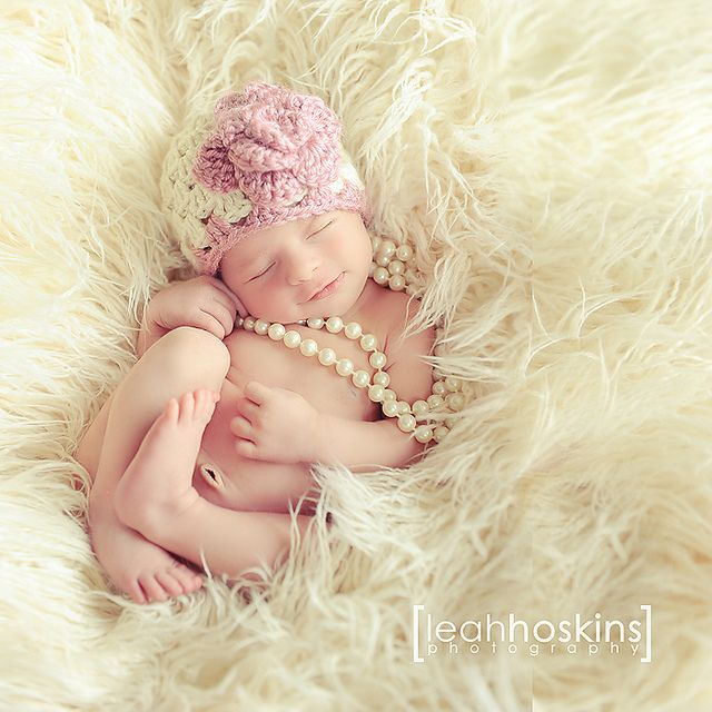Definitely want to work in some pearls at some point in my newborn girl photography