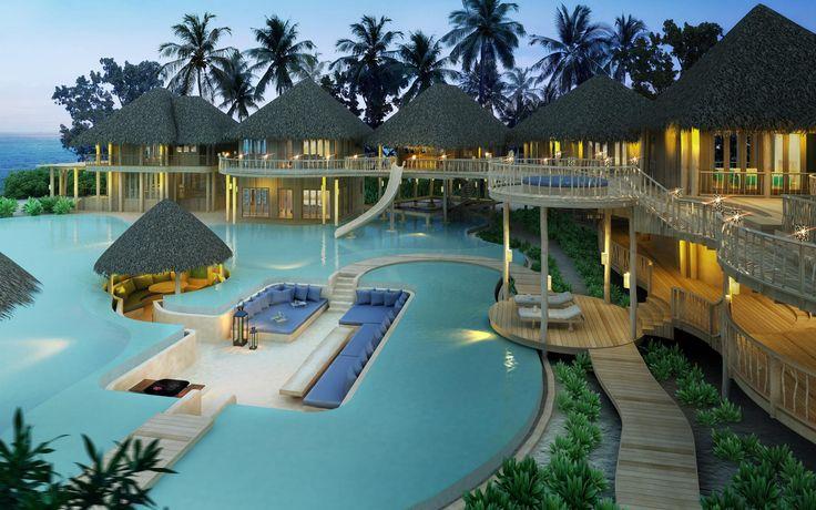 The largest villa in the Indian Ocean ( 8 bedroom) at Soneva Fushi Resort, Maldives.  www.soneva.com
