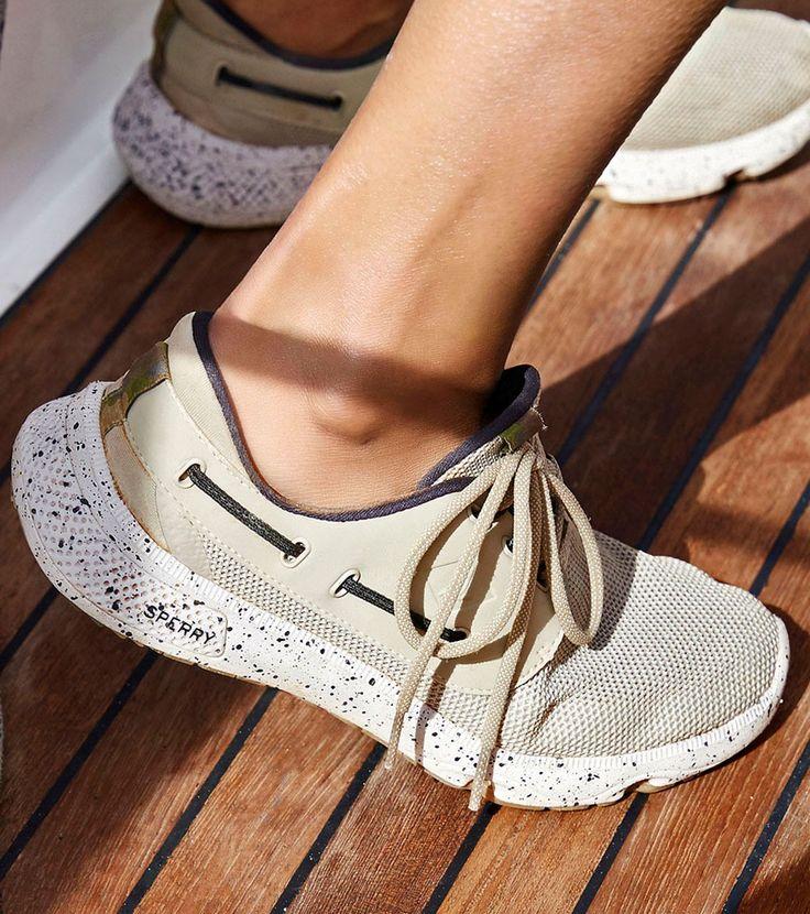 Sperrys Men S  Seas White Camo Boat Shoe