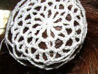Crochet Geek : Ballet Lace Crochet Hair Accessory - Bun Cover