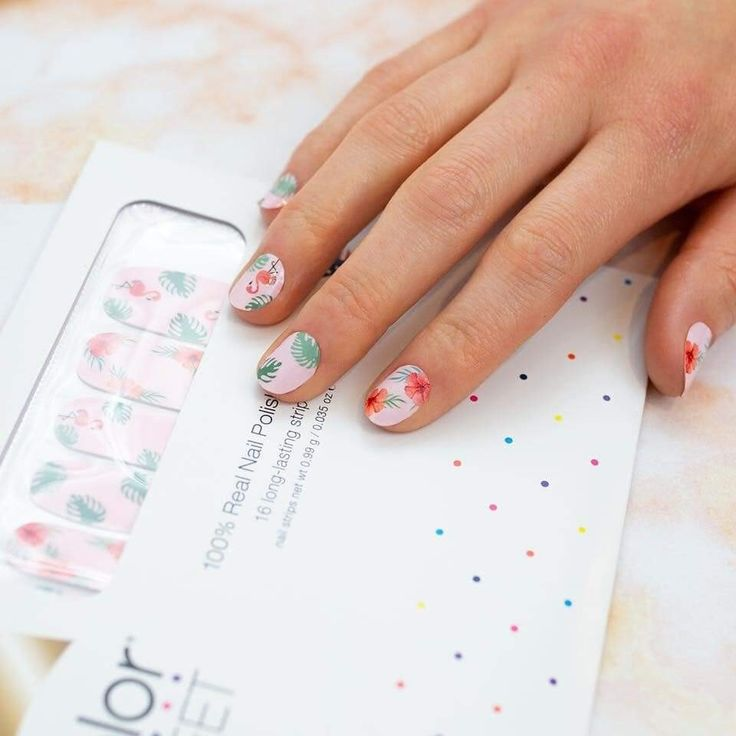 Flocking fabulous color street nails nail art summer