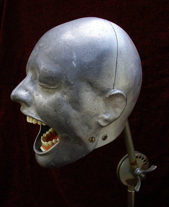 "Dental Phantom. A Human-Like Head with Teeth to allow Dental Students to get the ""Feel"" of Working on a ""Real"" Patient..."
