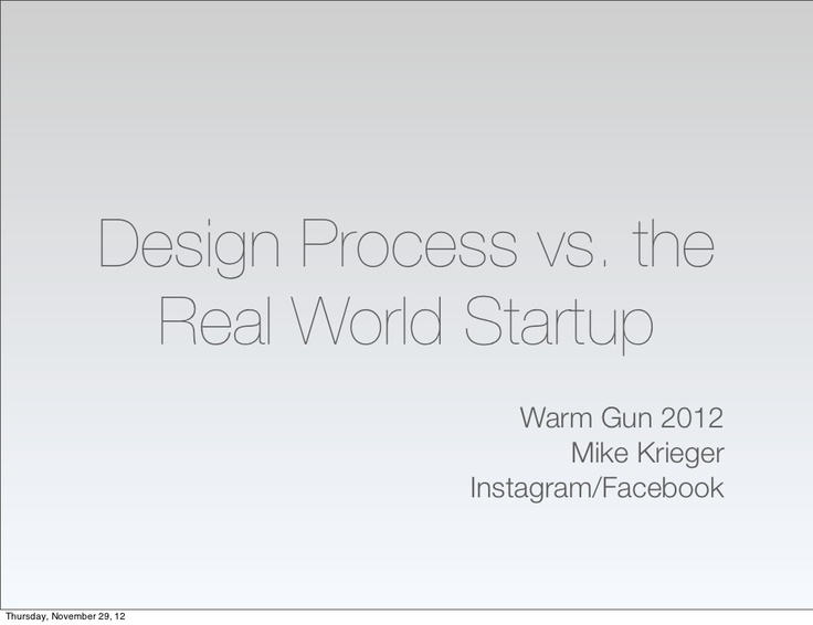 mike-krieger-warm-gun-2012 by 500 Startups via Slideshare