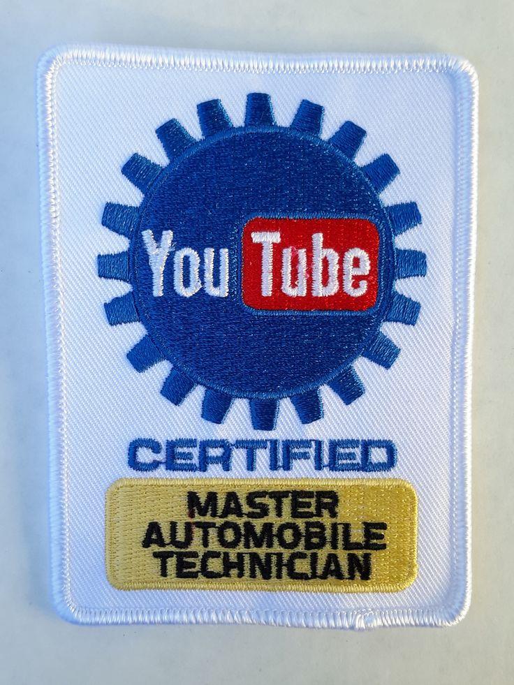 YouTube Certified Master Automobile Technician Mechanic Patch - Karol B