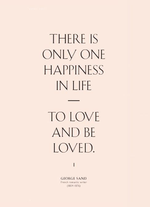 love and be loved.