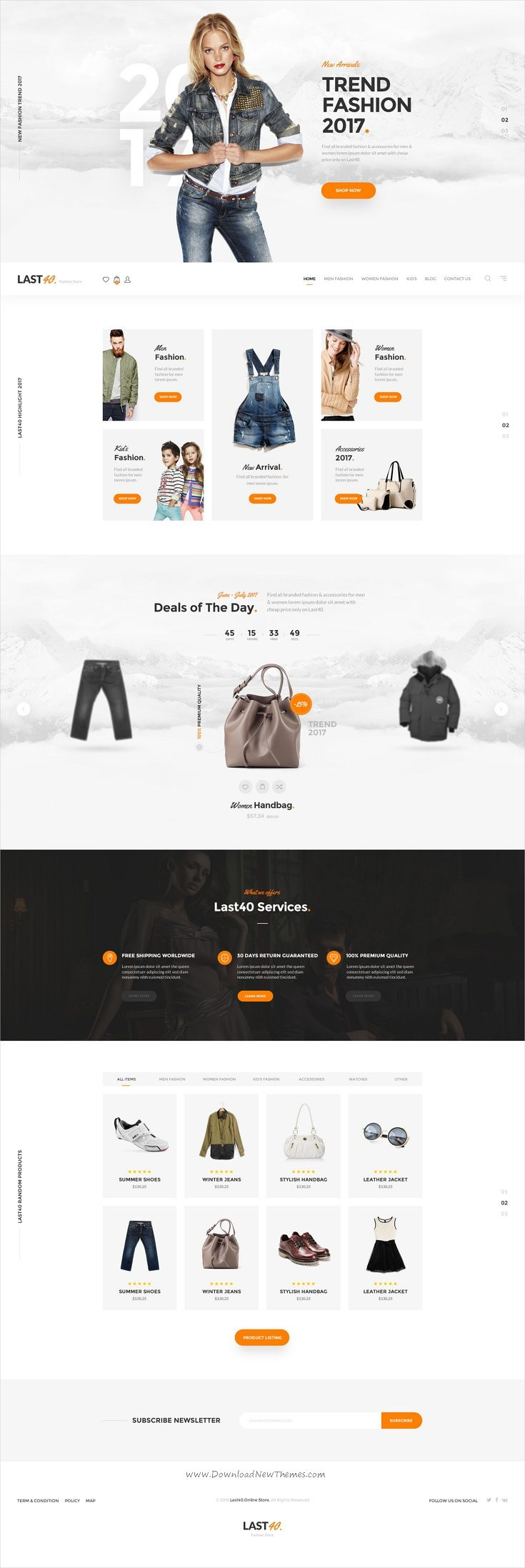 Last40 is a trending minimalist style #PSD template for stunning #eCommerce website with 4 homepage layouts and 15 organized PSD pages download now➩  https://themeforest.net/item/last40-store-ecommerce-psd-template/19495204?ref=Datasata