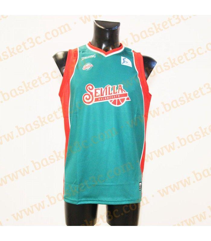 Camiseta Baloncesto Sevilla 1ª equipación replica Spalding 2014/2015
