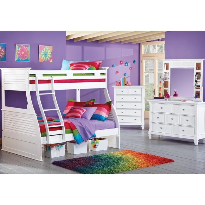 Whimsy And Practical A Classic White Bed And Dresser Set, This Room Can  Grow And
