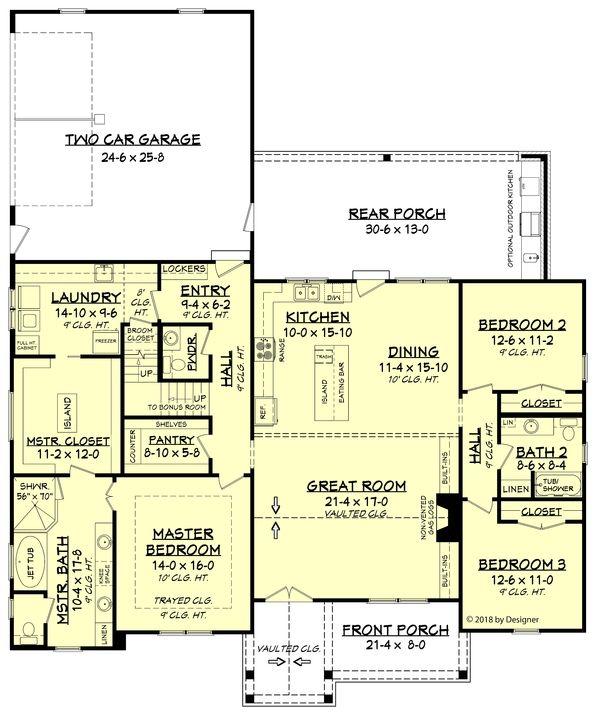 Farmhouse Style House Plan 3 Beds 2 5 Baths 2201 Sq Ft Plan 430 187 House Plans Farmhouse Farmhouse Style House Plans Modern Farmhouse Plans