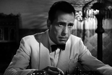 Casablanca Humphrey Bogart grayscale