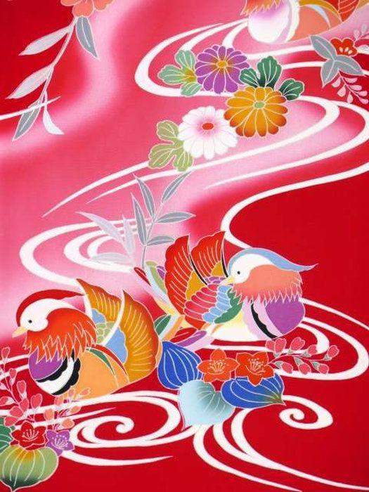 お宮参り着物 赤ちゃん きもの kimono 産着 初着 販売 通販。お宮参り着物 正絹 女の子のお祝い着(初着・産着)「赤、御所車に流水とオシドリ」TGU736
