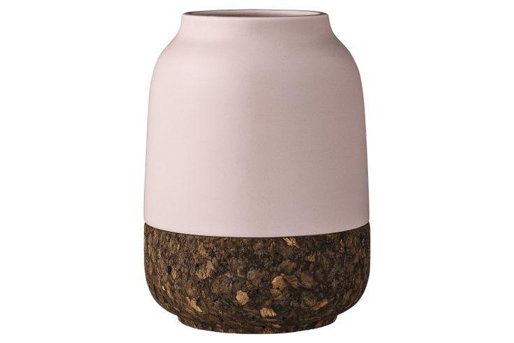 Vaza Nude, Ceramica/Pluta, Ø12xH15 cm