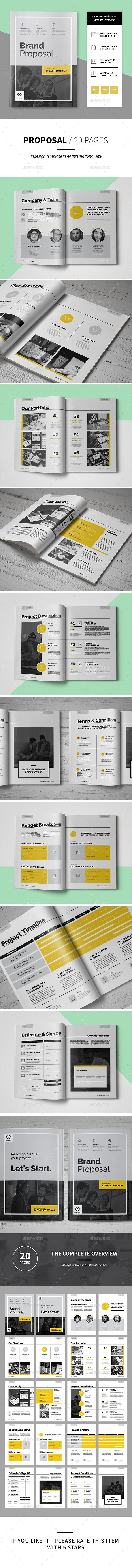 Proposal Template InDesign INDD. Download here: https://graphicriver.net/item/proposal/16991706?ref=ksioks