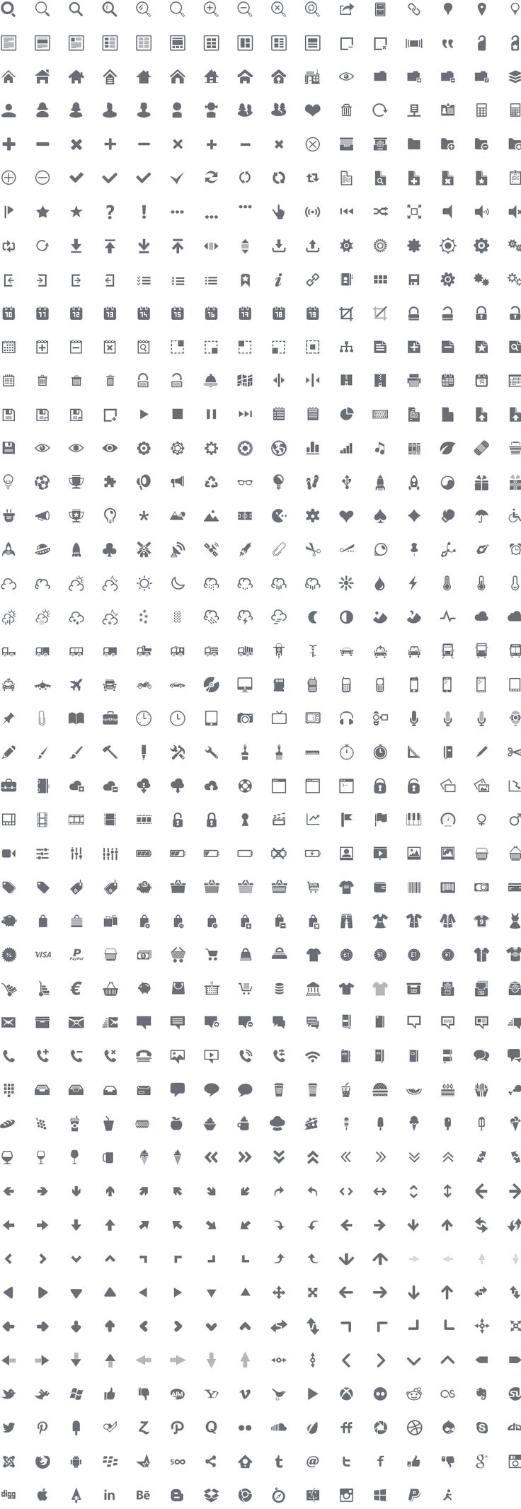 Get 720 Premium Vector Icon set for Web from IconDevs