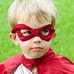 Make Your Own: Superhero Costume  This one has a million links to ideas!