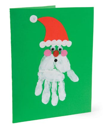 Image detail for -Craft of the Day: Handprint Santa Cards! « FashionPlaytes Blog ...