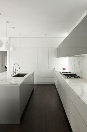 :: PROJECT North Vancouver :: KITCHEN :: I adore the work of Australian basedAllan Powell Architects are a design focused Architecture and Interior design practice based in Melbourne.  inspired to bring the illusion of expanding the volume of space within an interior with mirror layered with simple white to expand a unique small space for upgrading a kitchen interior ... something to consider for the kitchen #projectnorthvancouver #kitchen