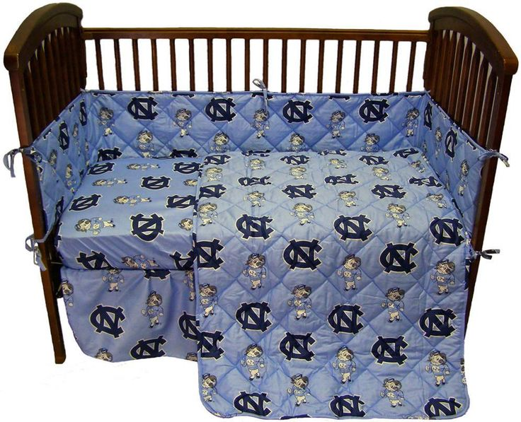 UNC 5 piece Baby Crib Set - NCUCS by College Covers