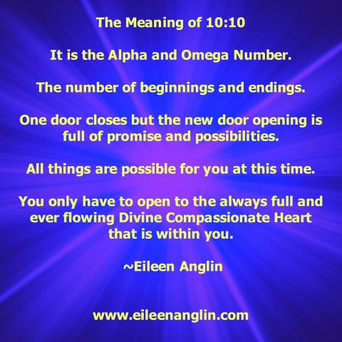 The meaning behind repeating numbers by Eileen Anglin Share this with someone who may benefit from this message. Sign up to receive free weekly affirmations, angel art, angel messages, meditations ...
