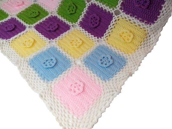 Uncinetto Pattern copertina neonato culla / di CREAZIONIFIOPI