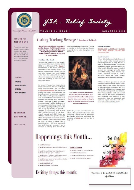 Best Lds Relief Society Newsletter Ideas Images On