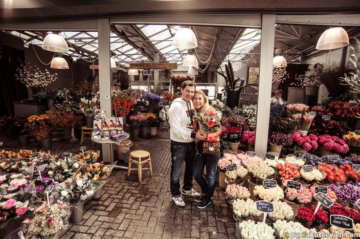 Flowers market in Amsterdam