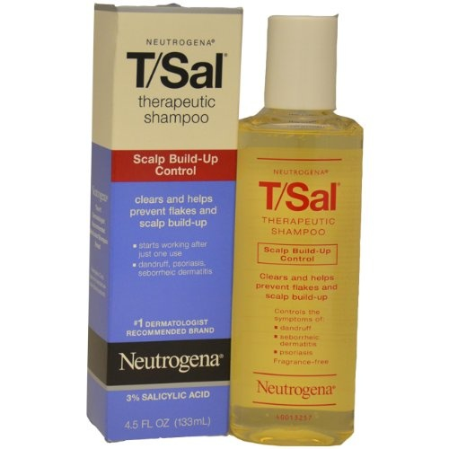 $5.91-$7.99 Clears and helps prevent flakes and scalp build-upControls the symptoms of: dandruff seborrheic dermatitis psoriasisFragrance-free 3% Salicylic Acid Neutrogena® T/Sal® Therapeutic Shampoo is recommended by dermatologists to relieve itching and flaking associated with chronic scalp conditions such as psoriasis, seborrheic dermatitis and even common dandruff. The active ingredient is cl ...