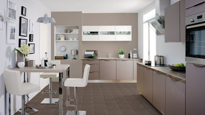 les couleurs id ales dans la cuisine taupe photos et cuisine. Black Bedroom Furniture Sets. Home Design Ideas