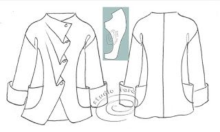 ***well-suited: Pattern Puzzle - Soft Pleat Jacket