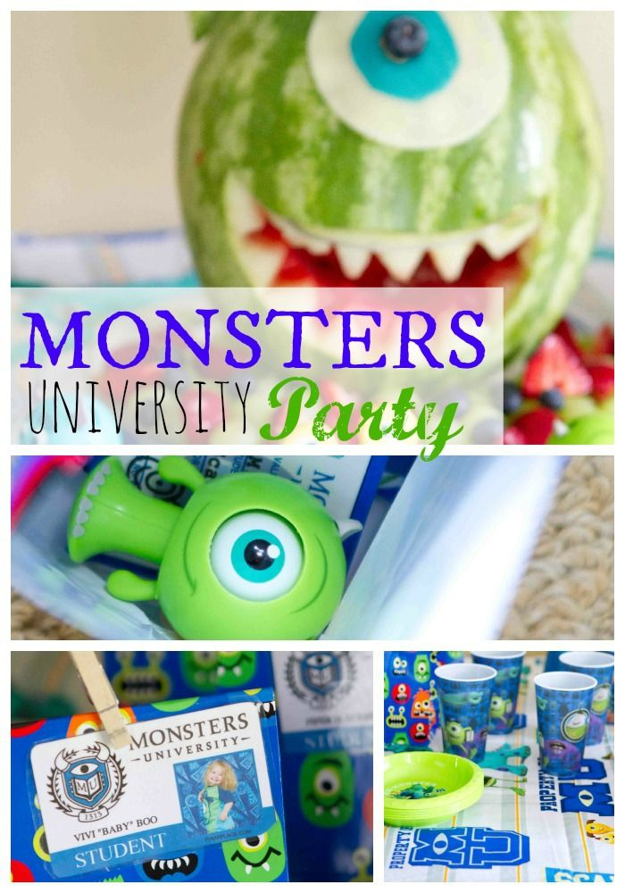 42 best Monsters University Party images on Pinterest | Monsters ...