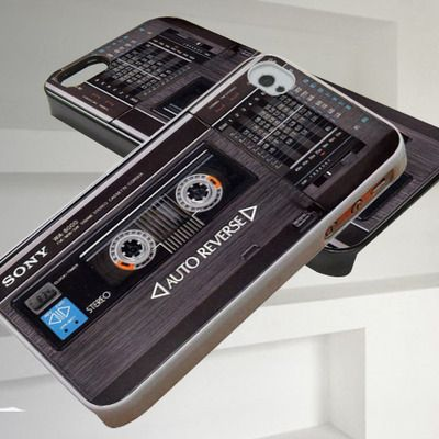 Vintage sony radio cassette iphone 4/4s,iphone 5/5s/5c,samsung galaxy s3/s4/s5 case