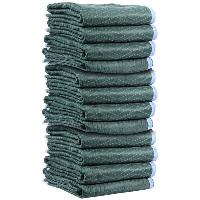 Moving Blankets 75lbs/doz (12 Pack) may be used in moving trucks, automobile trunks or for projects around the house.  Durable moving blankets to cover furniture to help protect against dings and scratches.  Moving blankets are useful in when storing furniture in your storage unit.  Shop Ecosmartboxes.com for a large selection of cheap moving blankets. #blankets #move #discounts
