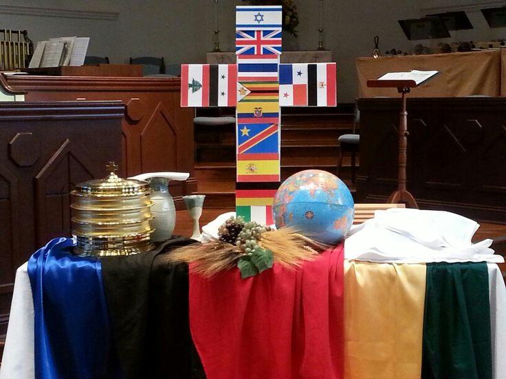 The Table Is Ready (World Communion Sunday, 2013). Altar DecorationsWorship  IdeasChurch ...
