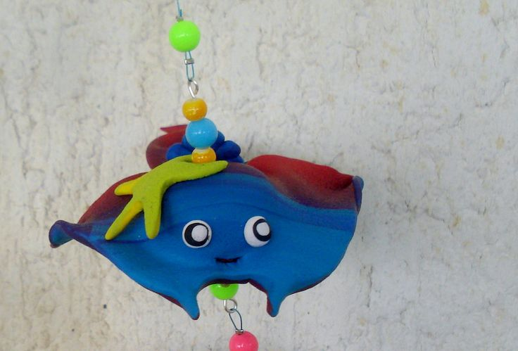 https://flic.kr/p/HgcVkS | Living in the sea - Mobile, handmade, polymer clay