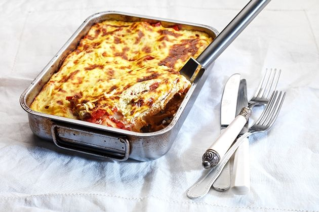 Κανελόνια με κιμά κοτόπουλου και εύκολη κρέμα τυριού