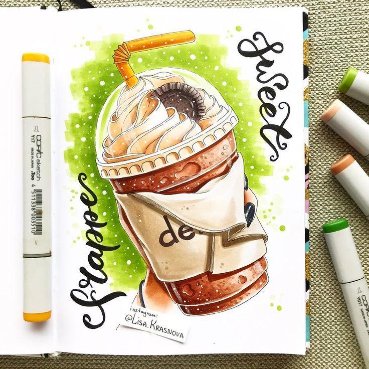 Iced coffee or frappe - the best way to cope with the Thai heat ☀️ В Тайланде можно зайти практически в любое кафе и получить идеальный ледяной кофе или коктейль из взбитых со льдом фруктов. Мммм!